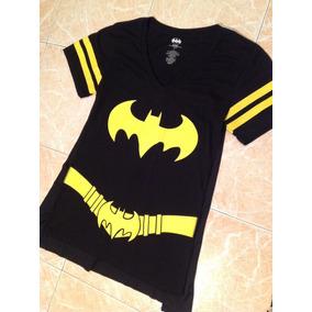 Batgirl Dc Comics Playera Mujer Talla Lyxl Capa Desmontable