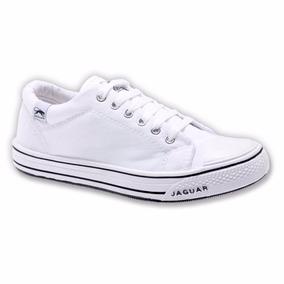Zapatillas Zapatos Jaguar Lona Modelo 320 Blanco Oferta
