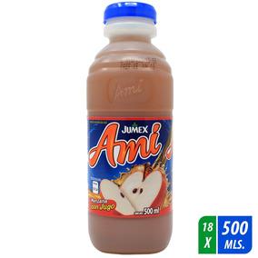 Bebida Con Jugo Amí Manzana 18 Pzas De 500 Ml