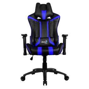 Silla Gamer Ac120 Negra-azul Aerocool Oficial