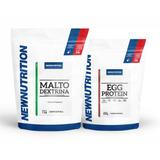 Kit Malto 1kg Natural+ Egg Protein 500g Natural Newnutrition