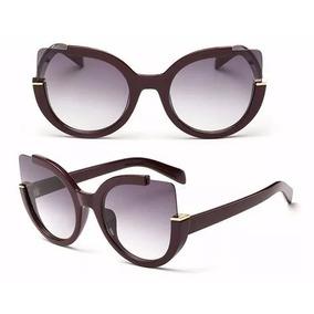 e3c31ea6a2106 Óculos De Sol Feminino Redondo Espelhado Vintage Moda Verão - Óculos ...