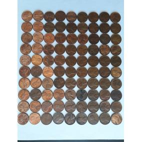 Coleção De 1 Cent Eua - 90 Moedas Diferentes
