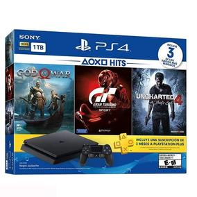 Playstation Ps4 Slim 1tb 3 Jogos + Plus