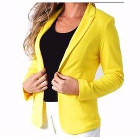 ebae45e7b6 Blazer Bengaline Atacado - Blazer para Feminino Amarelo no Mercado ...