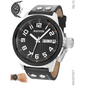 Relógio Magnum Masculino Pulseira Em Couro Ma32765t