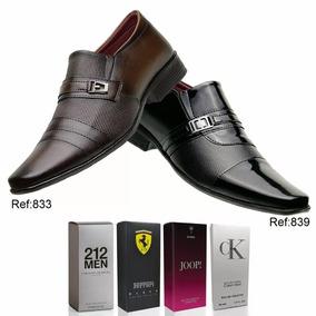 Kit 2 Pares Sapatos Social Verniz Masculino Casual+ 1brinde