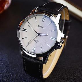 Relógio Masculino Luxo Social Pulso Yazole Original