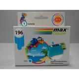 Cartucho Max Color T196220 Cyan Epson X10 Unidades Xp-201