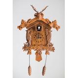 Reloj Cucu Con Péndulo Y Pájaro Símil Madera