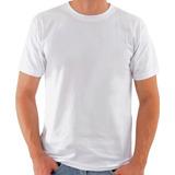Camisas Lisas Para Sublimação 10 Unds Cor Branca