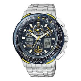 748a6d4ab9b Relógio Citizen Eco Drive Skyhawk Blue Angels Jr3090 58m - Relógios ...