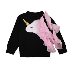 Sueter Sweater Abrigo Manga Larga Para Niñas Bebés Unicornio