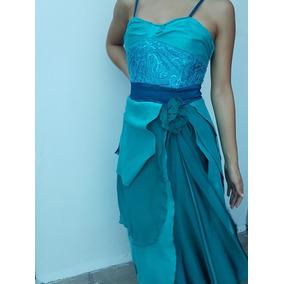 Vestidos de noche elegantes azul turquesa
