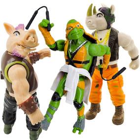 Coleção Com 3 Bonecos Articulados Com Luz Tartarugas Ninja