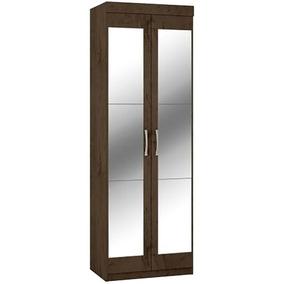 Armário Multiuso Araplac Popy C/espelho 2 Portas Imbuia