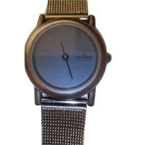 Reloj Skagen Denmark Original Gris Plateado Malla Acero Usad