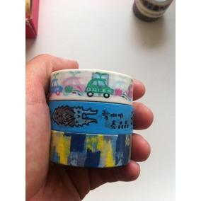 Kit 3 Washi Tapes Coloridas