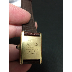63e801eab23 Relogio Cartier Prata Vermeil Ouro 925 Paris Original