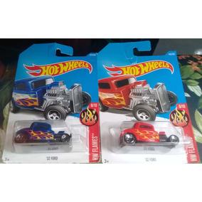 Hot Wheels - Hw Flames ´32 Ford - Azul E Vermelho