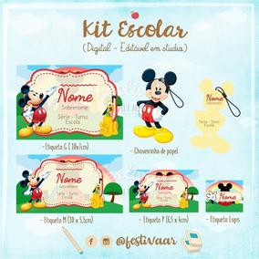 Kit Digital 38 Etiquetas Escolar Studio