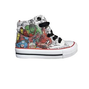 Marvel Zapatillas Kids - Bota Lona Comics Blco