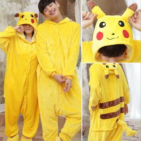 Pijama Mameluco Disfraz Cosplay Kigurumi Pikachu Pokemon 681b2a889b29