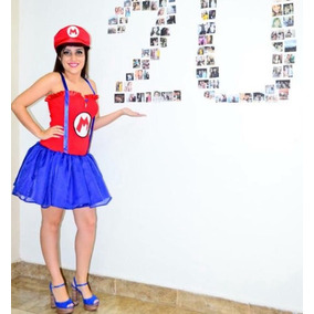 Fantasia Mario Bros Feminina - Brinquedos e Hobbies 4bda05f6c46