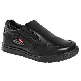 Zapato Escolar Yuyin 27053 Niño Negro 15-21 Envió Inmediato