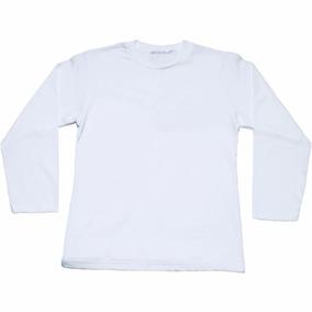 Kit 4 Camiseta Infantil Manga Longa Básica Algodão Lisa 71eb87ace68
