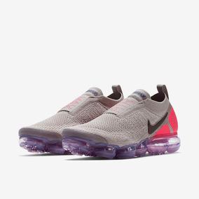big sale 20d40 719ce Zapatillas Nike Air Vapormax Flyknit Moc 2 Gris Para Mujer