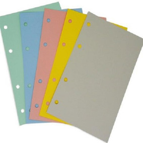 Refil Para Organizador Planner Colorido 20f 12,5x20cm Otima