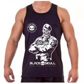 Camisa Camiseta Regata Black Skull Musculação e5980dd7d1b
