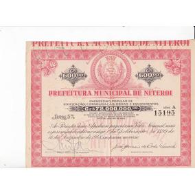 Apolice Prefeitura Municipal De Niteroi - Rio Janeiro 1948