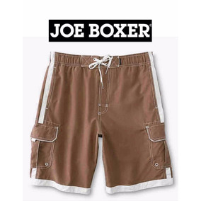 Shorts Xxl Traje Bano Cargo Joe Boxer 2x Cafe Hombre 2xl Ve!