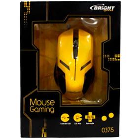 Mouse Usb Gamer Bright 0375 2400dpi Amarelo 0375