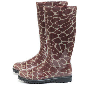 Bota Galocha Feminina Impermeável Cano Longo Girafa M35