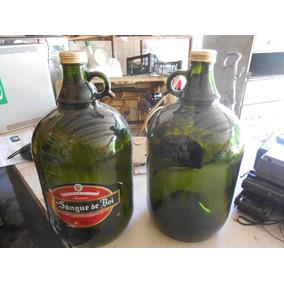Garrafão De Vidro Verde 4 Litros C Orelha Tampa Rosca Usado