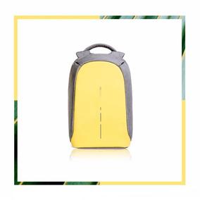 Mochila Antirrobo Bobby Compact Xd Design Gris - Amarilla
