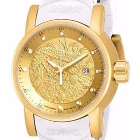 Relógio Invicta Yakuza 19546 - Dourado Branco Masculino