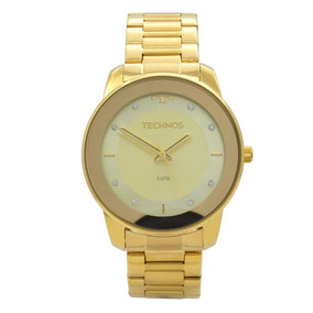 bb6758d46b03b Relogio Technos Dourado Com Strass - Relógios De Pulso no Mercado ...