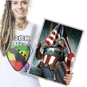 Painel Decorativo Capitão América Marvel Poster 42x29cm 04
