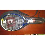 Raquete De Tênis Wilson Us Open Com Capa Em Bom Estado.
