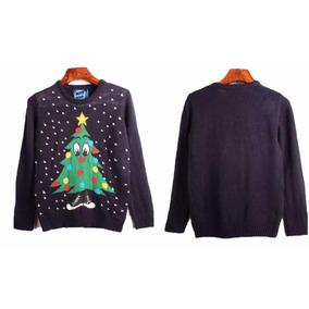 Suéter Navideño, Azul Marino, Niño, Navidad, Pino