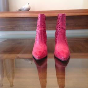 e6f9d7fe9b Calçado Feminino Salto Fino Vermelho Rosado Ramarim Nº 37
