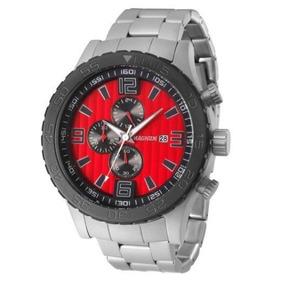 Relógio Magnum Ma33602v Cronografo Calendario Pulseira Aço