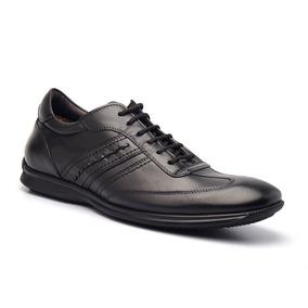 Sapato Casual Masculino Em Couro Pelica Gti 9000 Di Pollini