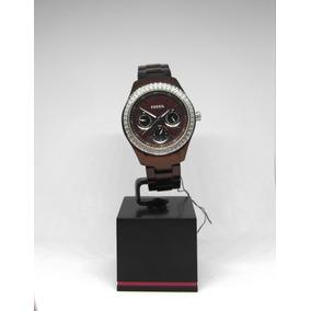 Reloj Fossil Para Dama Anonizado, Zirconias Nuevo Fechador!!