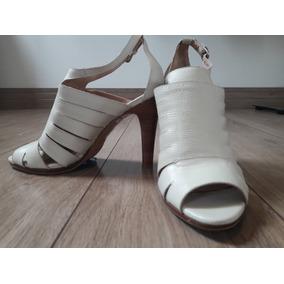 Sandália Em Couro Off White - Calvin Klein Original