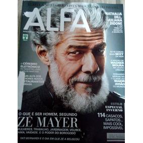 Revista Alfa 2012 - José Mayer/nathalia Dill/carmo Dalla